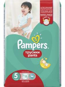 Подгузники-трусики Pampers Pants 5 (11-18 кг), 15 шт