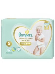 Подгузники-трусики Pampers Premium Care Pants 5 Junior (12-17 кг), 34 шт