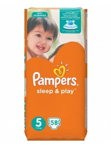 Подгузники Pampers Sleep&Play 5 Junior (11-18 кг), 58 шт