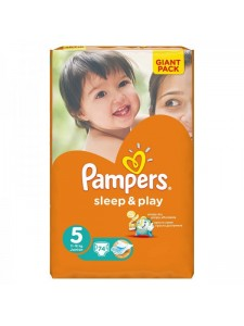 Подгузники Pampers Sleep&Play 5 Junior (11-18 кг), 74 шт