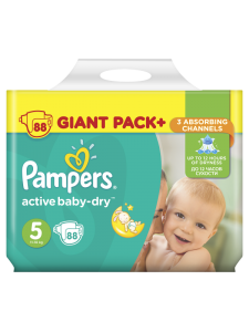 Подгузники Pampers Active Baby Junior 5 (11-18 кг), 88 шт