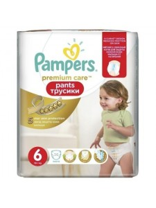 Подгузники-трусики Pampers Premium Care Pants 6 Extra Large (16+ кг), 36 шт