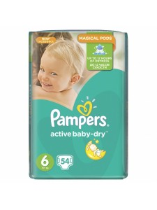 Подгузники Pampers Active Baby Extra Large 6 (15+ кг), 54 шт