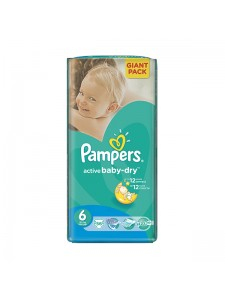 Подгузники Pampers Active Baby-Dry Extra Large 6 (15+ кг), 56 шт