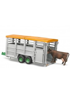 Брудер Прицеп с коровой Bruder 02227